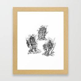 Tree Huts Framed Art Print