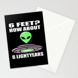 Alien UFO Extraterrestrial Motif Stationery Cards