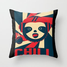 Sloth And Chill Throw Pillow