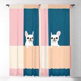 Little_French_Bulldog_Love_Minimalism_001 Blackout Curtain