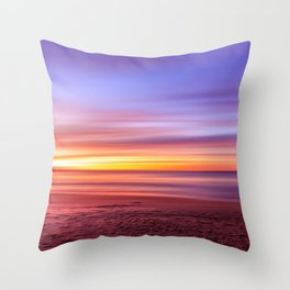 Colour sky beach Throw Pillow