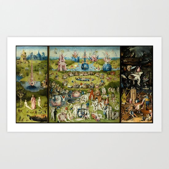 Hieronymus Bosch The Garden Of Earthly Delights by artgallery