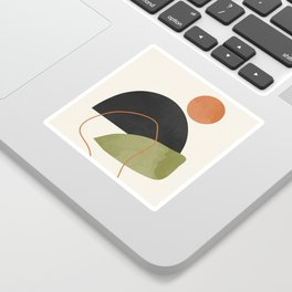 abstract minimal 64 Sticker