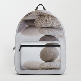 Stone Balance pebble cairn and water Backpack