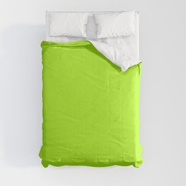 Solid Bright Green Yellow Neon Color Comforters