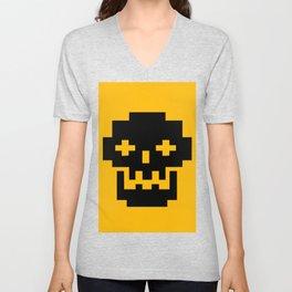 Funky Skull Head Unisex V-Neck
