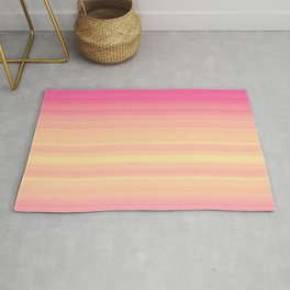 Pink Yellow Gradient Stripes Rug