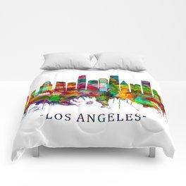 Los Angeles California Skyline Comforters