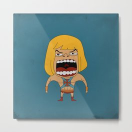Screaming He-Man Metal Print
