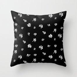 Capo Blanco - Black Throw Pillow