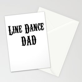 Funny Line Dance Dad Stationery Cards