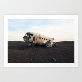Plane Wreck Art Print