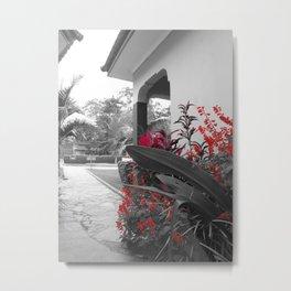 Tanzanian Red Flower Metal Print