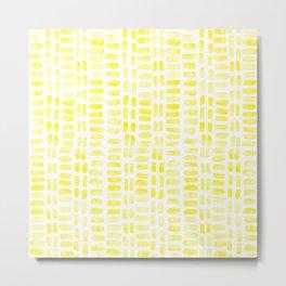 Abstract rectangles - yellow Metal Print