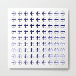 Flag of Finland 5 -finnish, Suomi, Sami,Finn,Helsinki,Tampere Metal Print