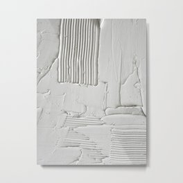 Relief [3]: an abstract, textured piece in white by Alyssa Hamilton Art  Metal Print