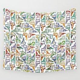 Idaho Tetris Painting Wall Tapestry