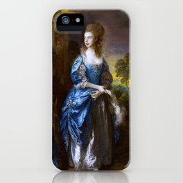 "Thomas Gainsborough ""The Hon. Frances Duncombe"" iPhone Case"