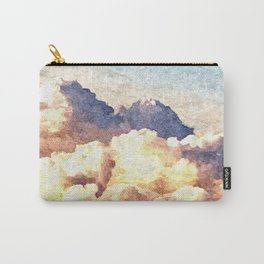 Fluffy Clouds Aerial Skyscape Painting Carry-All Pouch