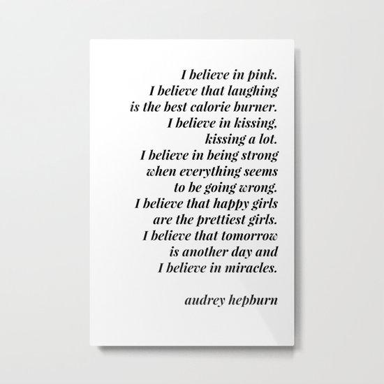 Audrey Hepburn quote by blackandwhitetype