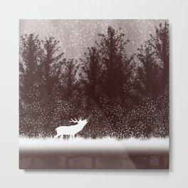 The rut - deer mating season Metal Print