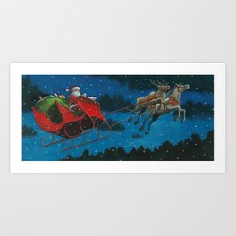They were flying! Art Print