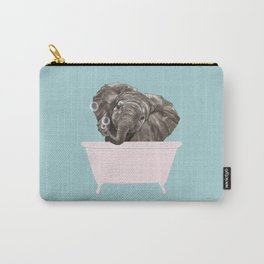Baby Elephant in Bathtub Carry-All Pouch