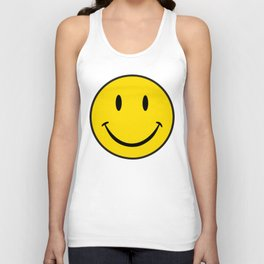 Smiley Happy Face Unisex Tank Top