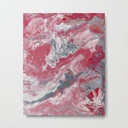 Strawberry Sundae Melt Metal Print