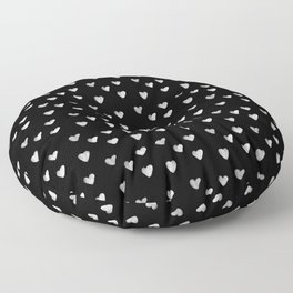 Ink Heart Pattern Floor Pillow