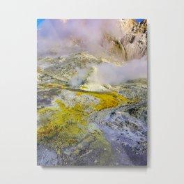 White Island Active Volcano Metal Print