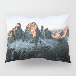 Dolomites sunset panorama - Landscape Photography Pillow Sham