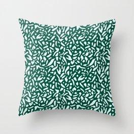 Deep Emrald #pattern #illutsration Throw Pillow