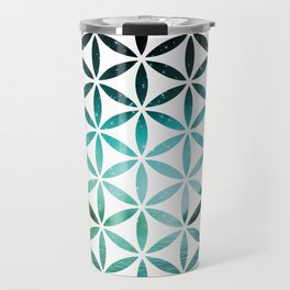 Flower of Life - Aurora Borealis Travel Mug
