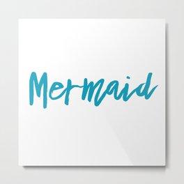 Mermaid beachy summer fantasy Metal Print