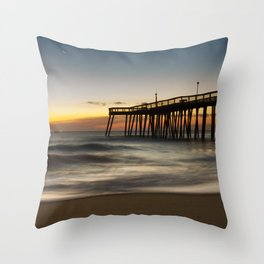 Motion of the Ocean - Sunrise Coastal Landscape Photo Throw Pillow