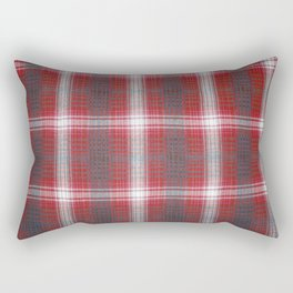 Texture #19 Plaid fabric. Rectangular Pillow
