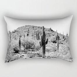 Saguaros B/W Rectangular Pillow