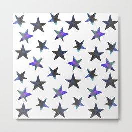Night Sky Stars Watercolor Metal Print