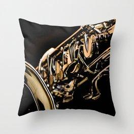 Musical Gold Throw Pillow