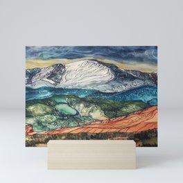 Pikes Peak Print Mini Art Print