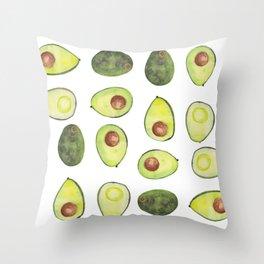 Quatro Avocado Throw Pillow
