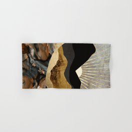 Copper and Gold Mountains Hand & Bath Towel