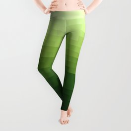 Gradient Pixel Green Leggings