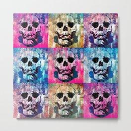 Skull Pop Metal Print