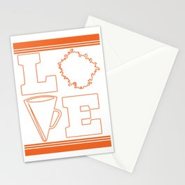 """Cheerleading Tee Perfect Gift For Cheerleaders Saying """"Love Cheer!"""" Cheerfulness Shout Dance Support Stationery Cards"""