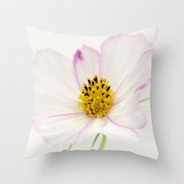 Sensation Cosmos White Bloom Throw Pillow