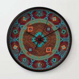 Bohemian Traditional Southwest Style Design Wall Clock