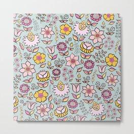 Floral - happy colours Metal Print