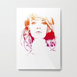 TattooGirl Metal Print